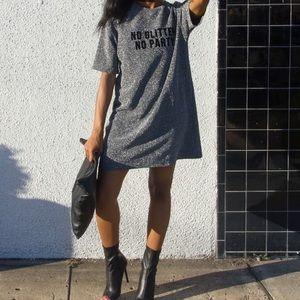 No Glitter, No Party T shirt Dress